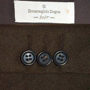44L Ermenegildo Zegna Soft Chocolate Brown blazer